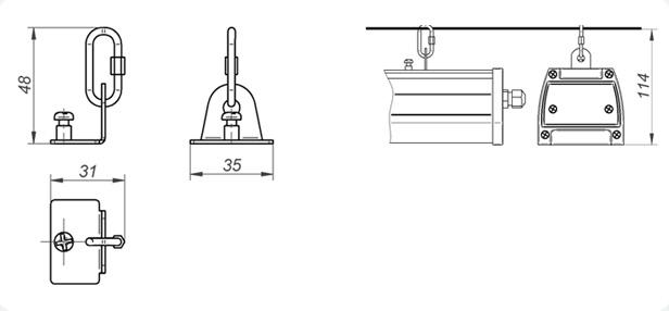 Крепление светодиодного светильника Geliomaster GSUO