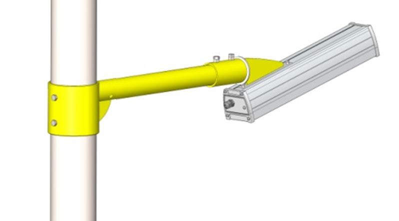 Светодиодный светильник GSU с кронштейном крепления