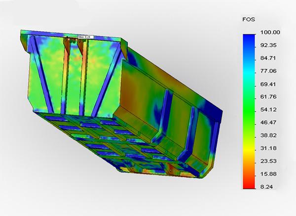 Разработка прицепа с помощью компьютерного моделирования. Восьмикратный запас прочности кузова.